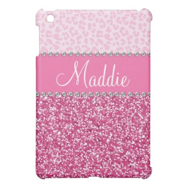 Pink Glitter Rhinestone Leopard BLING Case iPad Cover For The iPad Mini