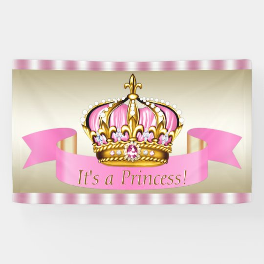 pink gold princess crown
