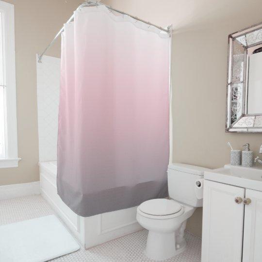 pink gray white ombre shower curtain zazzle com