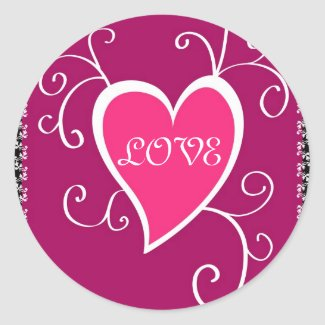Pink heart - Sticker sticker