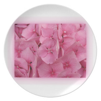 Pink Hydrangea Party Plates