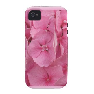 Pink Hydrangea Vibe iPhone 4 Covers