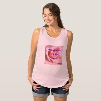 Pink International T-Shirt Day Maternity Top