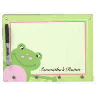 Pink Leap Frog Dry Erase Board with Key hooks