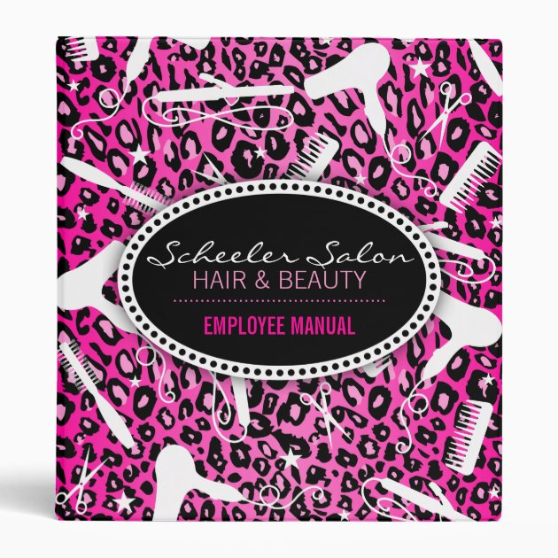 pink leopard print hair & beauty