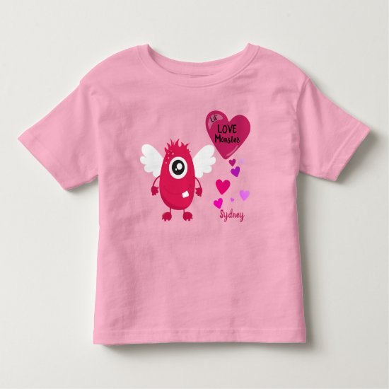Pink Little Love Monster with Wings | Toddler T-shirt