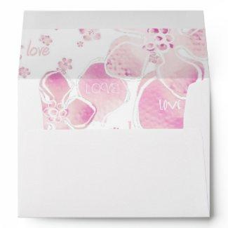 Pink Love Blossoms Envelope envelope