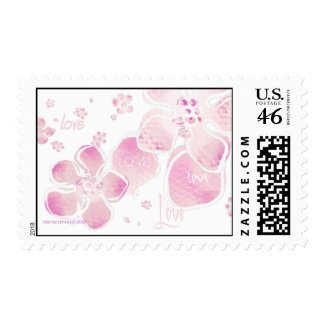 Pink Love Blossoms Postage stamp