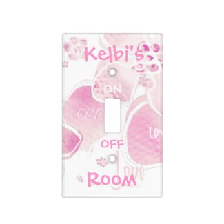 Pink Love Light Switch Cover