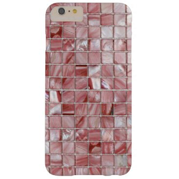 Pink Mother of Pearls Tile Patterns Barely There iPhone 6 Plus Case
