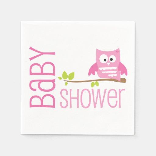 Baby Shower Pink Napkins