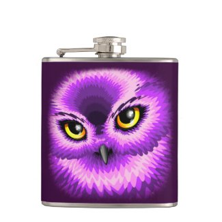 Pink Owl Eyes Flasks