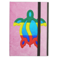 Pink Rasta Honu iPad Cases