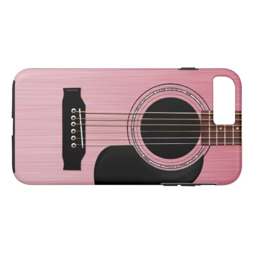 Pink Rose Acoustic Guitar iPhone 7 Plus Case