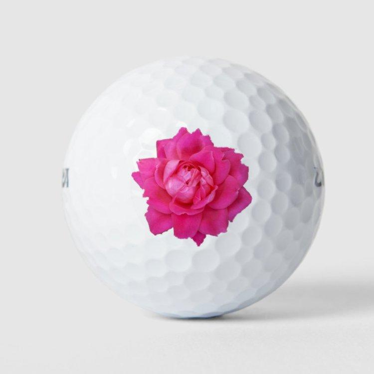 Pink Rose Golf Balls