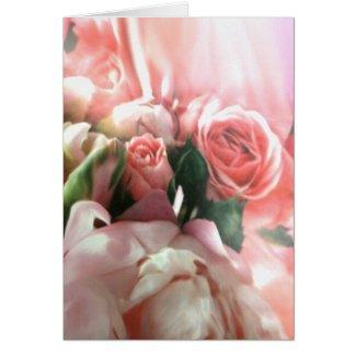 Pink Roses Card card