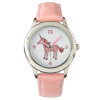Pink Sleeping Unicorn Watch