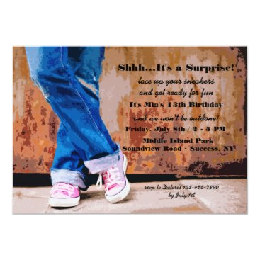 Pink Sneakers Invitation