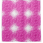 Pink Starburst Abstract Shower Curtain