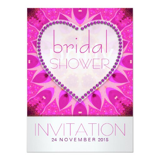 Pink Surprise Funky Bridal Shower Party Invitation