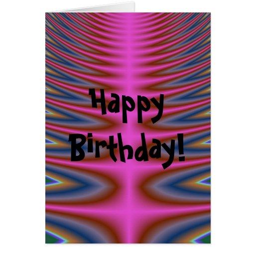 Pink Tie Dye Happy Birthday Card Zazzle