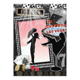 Las Vegas Wedding Invitation Vintage Invite