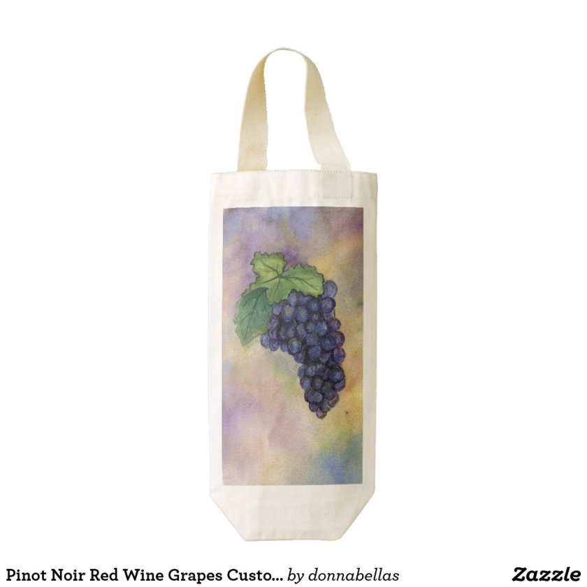 Pinot Noir Red Wine Grapes Custom Wine Tote Bags