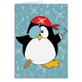 Pirate Penguin Graphic Card