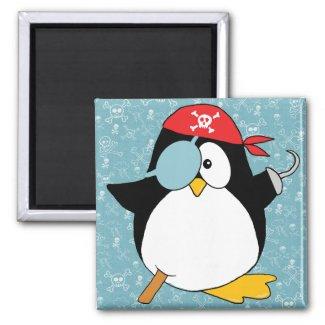 Pirate Penguin Graphic Fridge Magnets