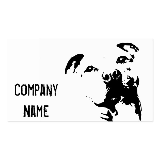 Pitbull Dog Business Card Templates