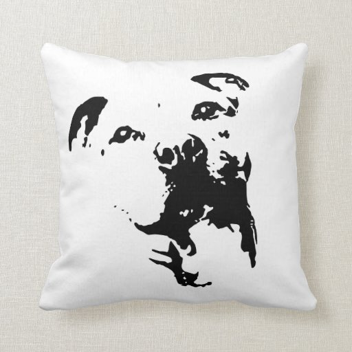 Pitbull Dog Throw Pillow  Zazzle