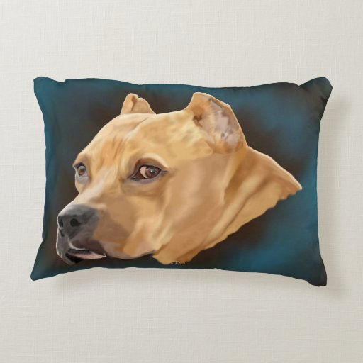 Pitbull Pillow Accent Pillow  Zazzle