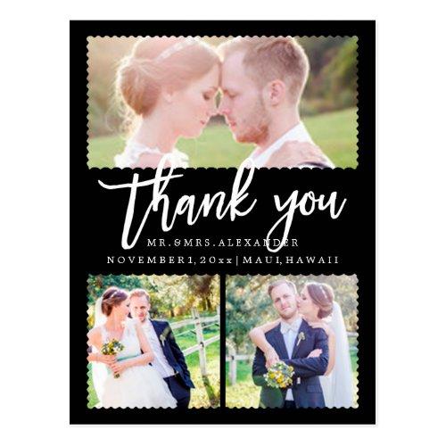 PixDezines Wedding Thank You/Modern Script Postcard