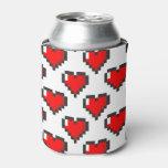 Pixel Heart Pattern Can Cooler