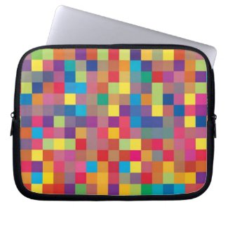 Pixel Rainbow Square Pattern electronicsbag