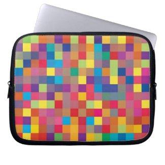 Pixel Rainbow Square Pattern electronicsbag