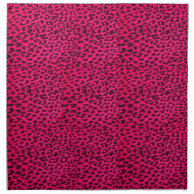 Hot Pink Leopard Animal Print Napkin- Smaller Print