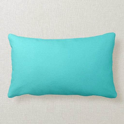 Plain turquoise throw pillow lumbar