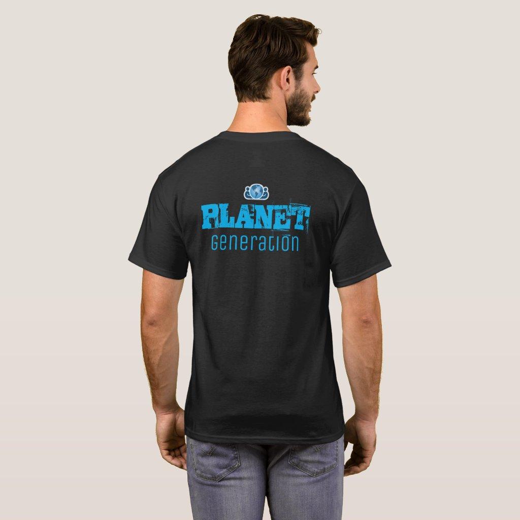 Planet Generation logo & text back T-Shirt