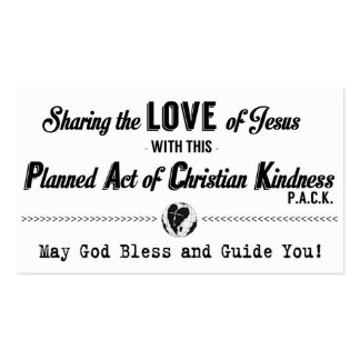Planned Act of Christian Kindness (P.A.C.K.) Card Double