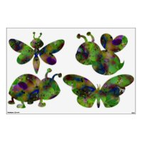 Play In Paint Insect Wall Decal | Zazzle