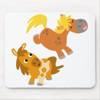 Playful Cartoon Ponies Mousepad mousepad