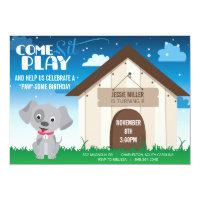 Playful Dog or Puppy Birthday Party Invitation