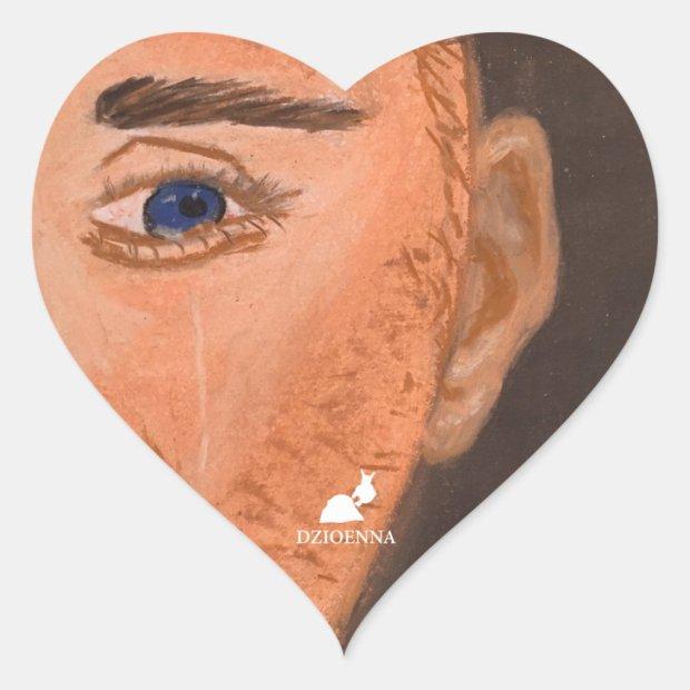 Please Help - Crying Inside Heart Sticker