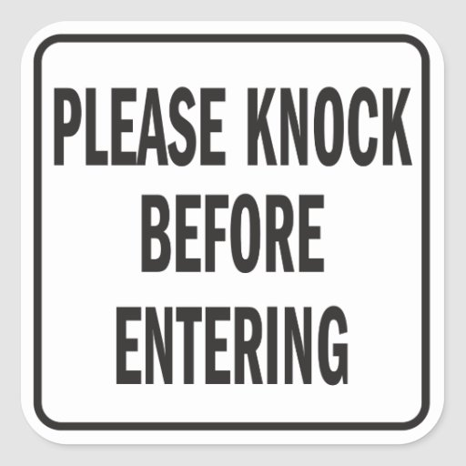 image about Please Knock Sign Printable called Make sure you Knock Indicator Printable