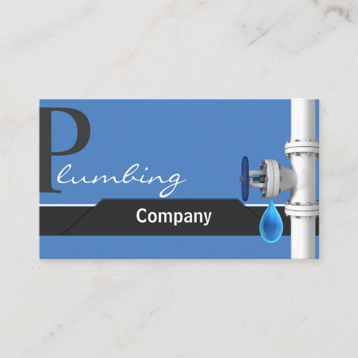Plumbing Business Card Zazzle Com