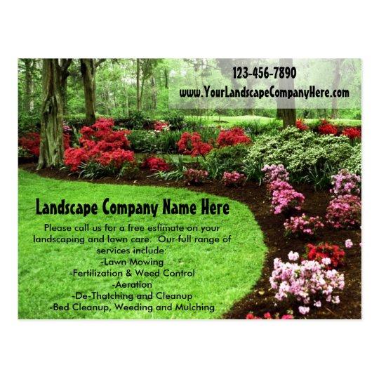 plush green landscape lawn care