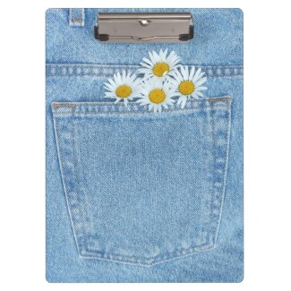 Pocket full of daisies clipboard