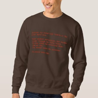 Poetry Sweatshirt: