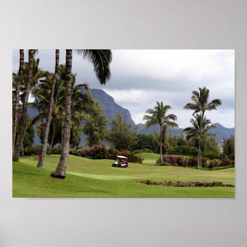 Poipu Bay Golf Course, Kauai, Hawaii Poster